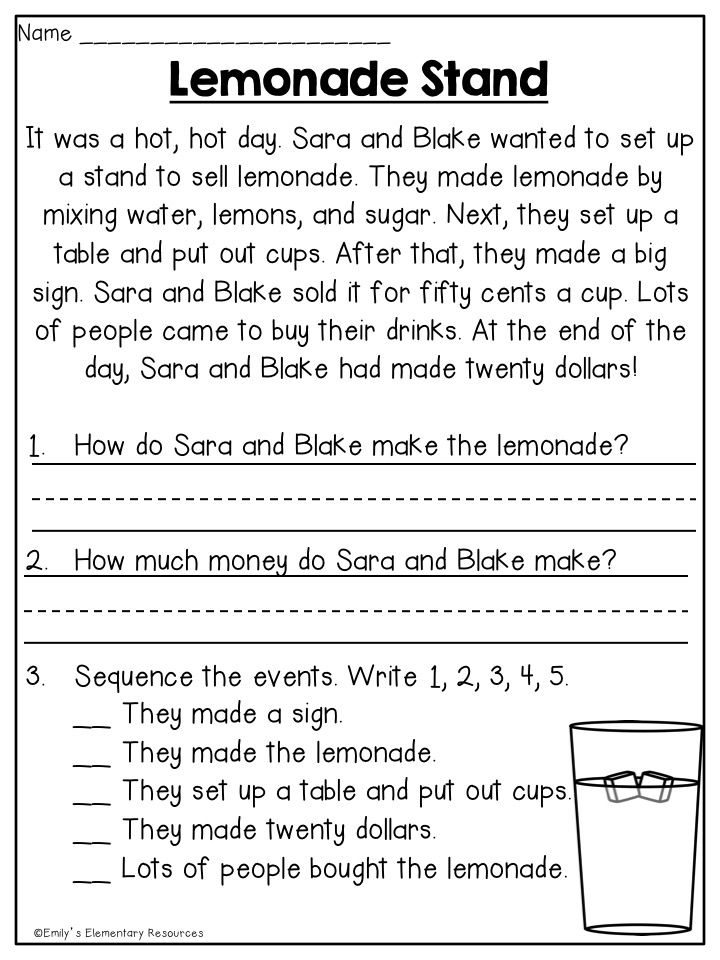 First grade reading stories pdf