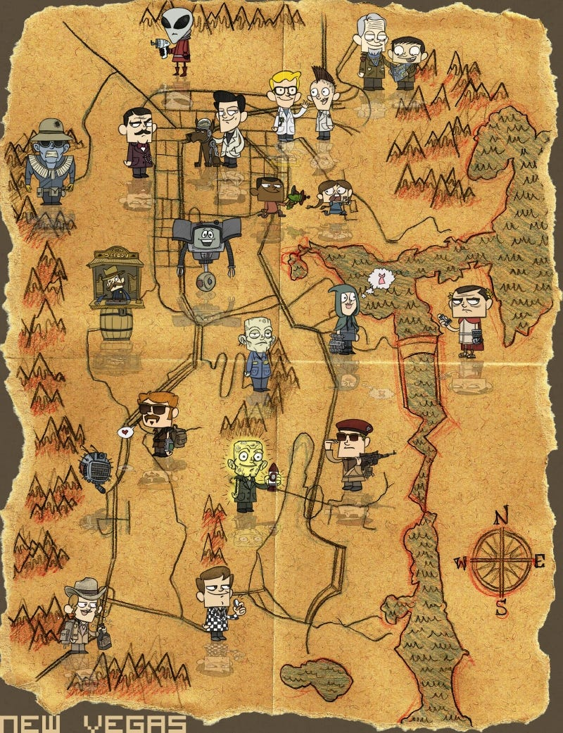 Fallout new vegas map pdf