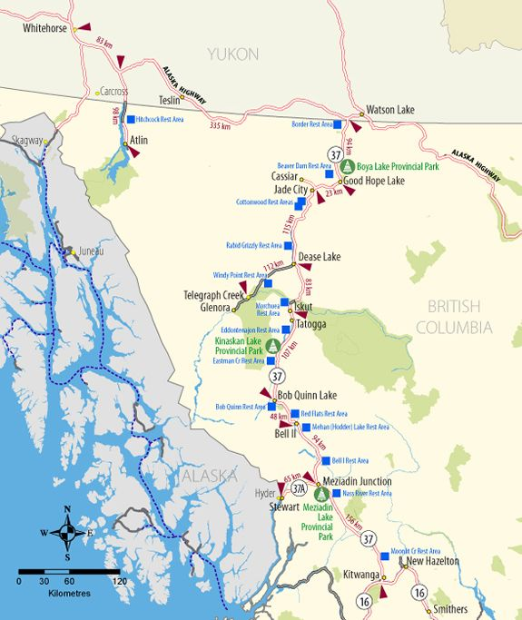 British columbia road map pdf