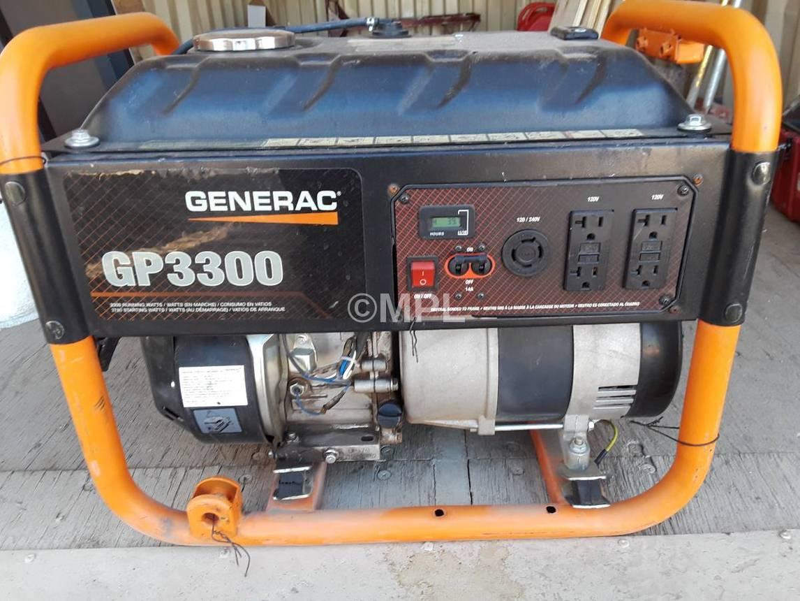 Generac gp 3300 parts manual