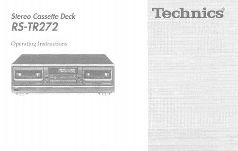 Technics rs tr232 manual