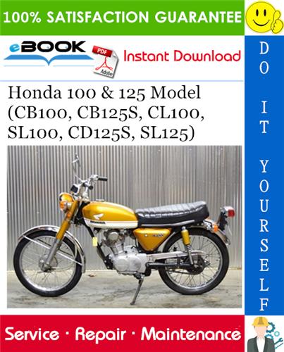 honda cb125e service manual pdf