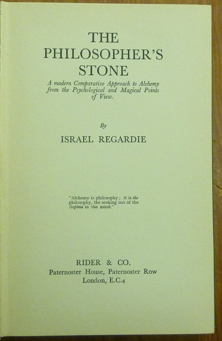 Israel regardie the philosophers stone pdf