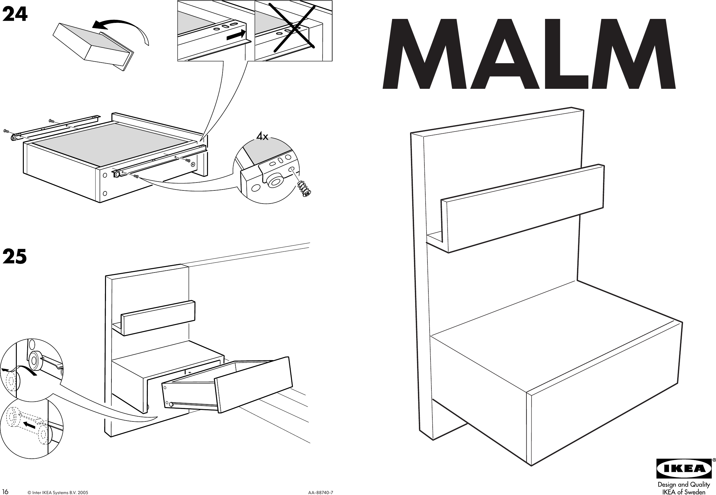 ikea malm floating nightstand manual