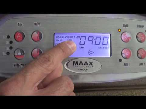 maax spa control panel manual
