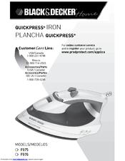 Black and decker light n easy iron manual