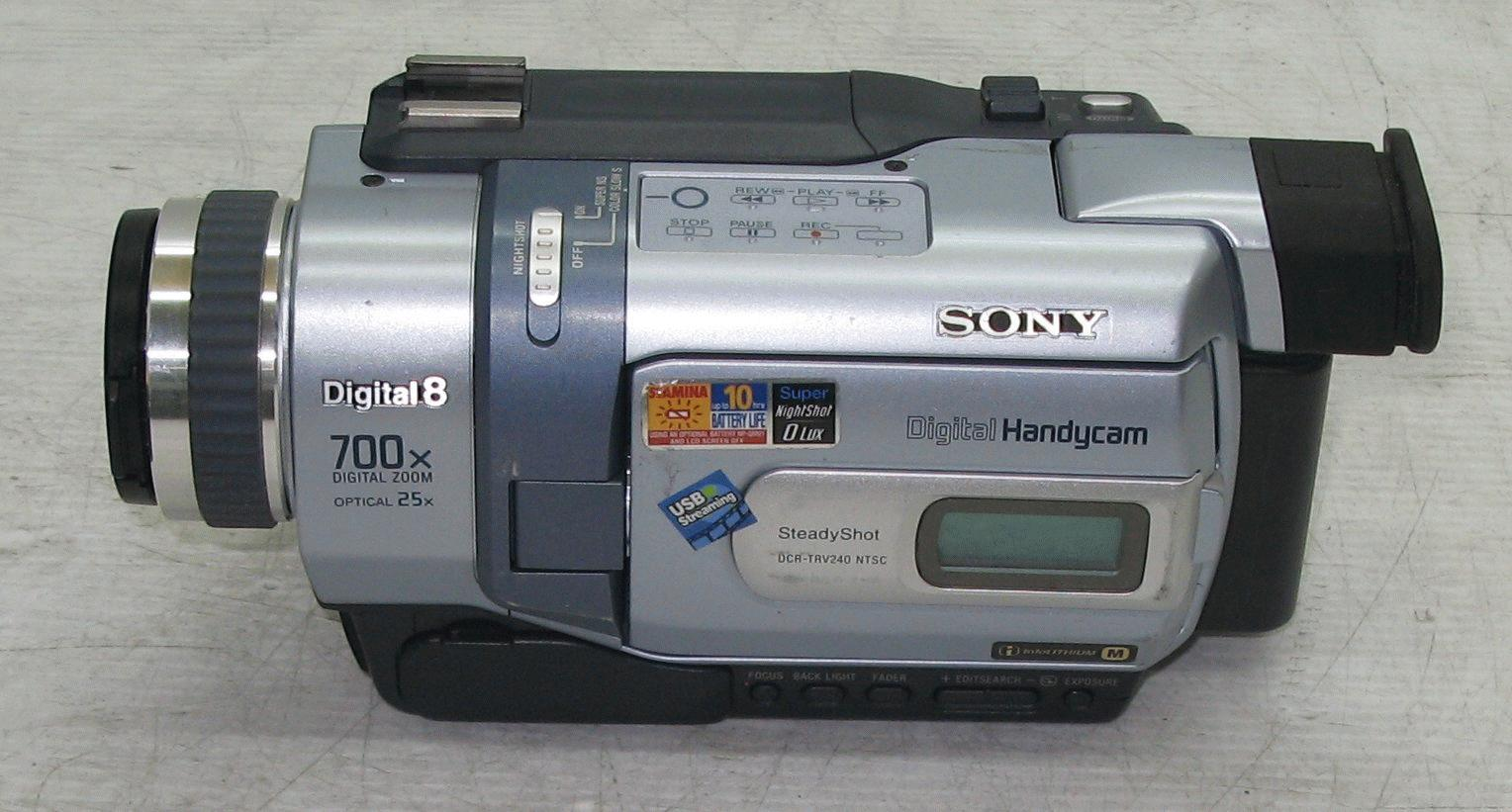 sony digital handycam digital 8 700x zoom manual