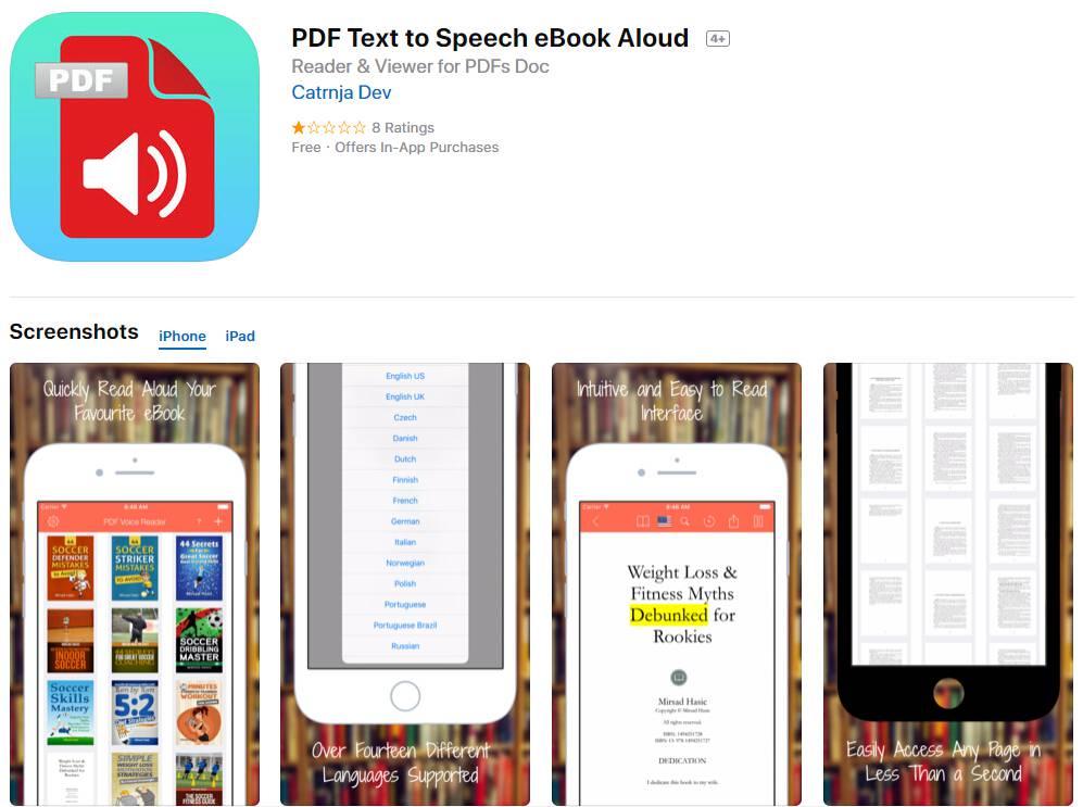 Windows apps that read pdf files aloud