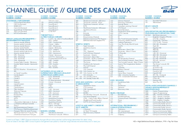 Bell fibe tv programming guide pdf