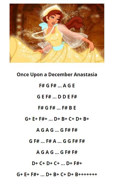 Once upon in december piano sheets pdf