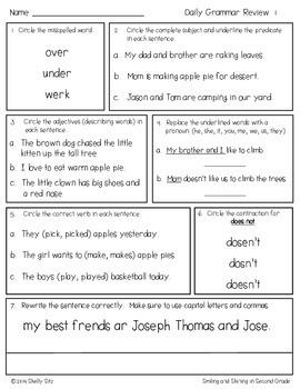 Daily grammar practice 8th grade pdf