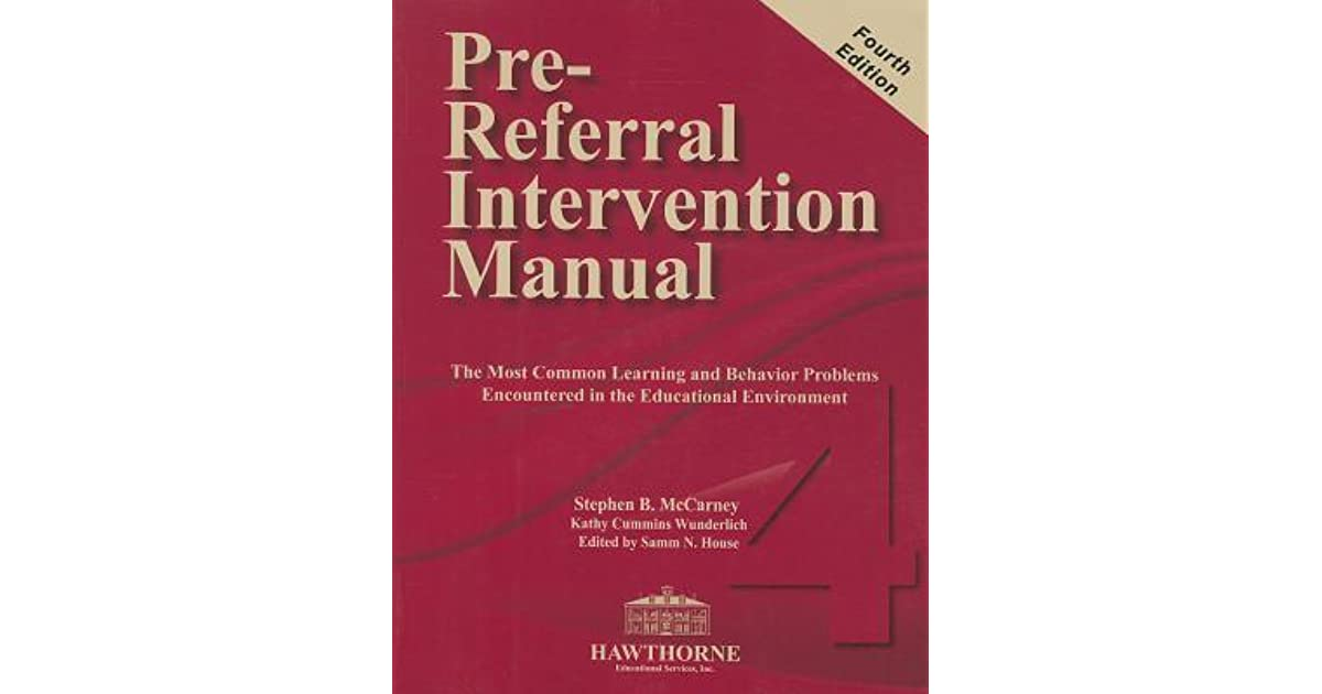 ontario pre-referral intervention manual prim