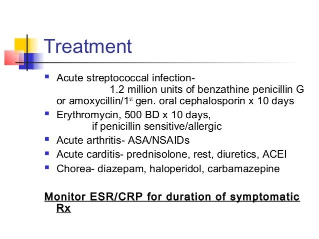 Acute rheumatic fever treatment guidelines