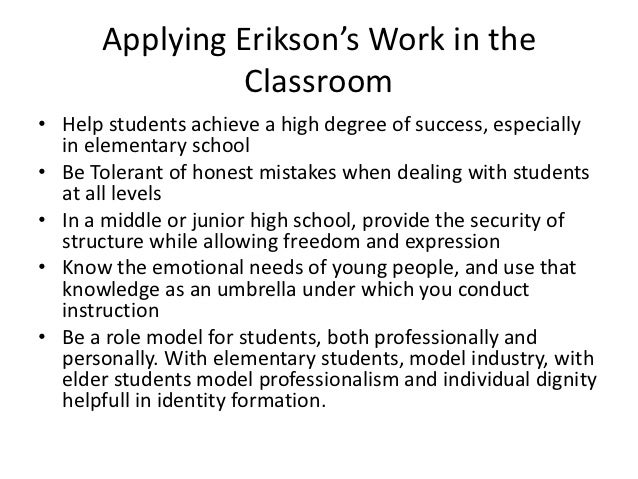 Example of erik erikson theory