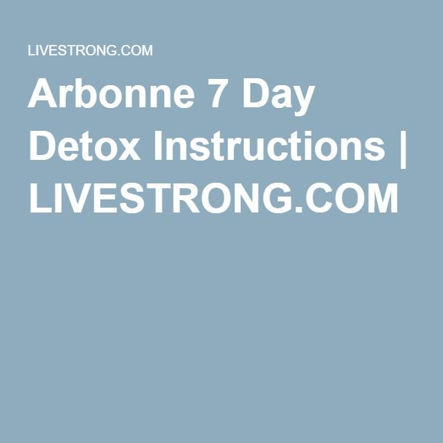arbonne 7 day cleanse instructions