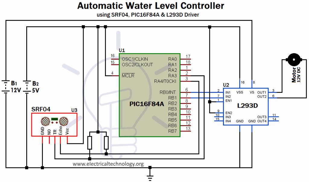 Automatic water level controller circuit diagram pdf