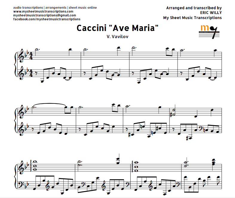 Ave maria you by my side pdf