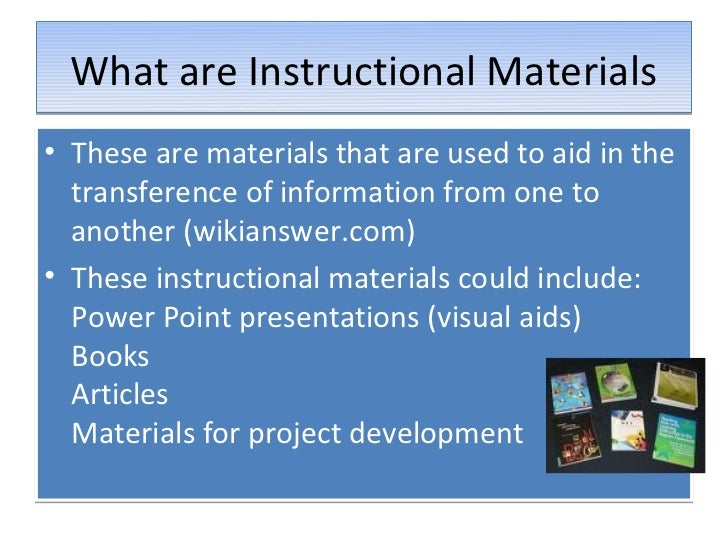 sample of innovative instructional materials