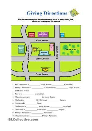 esl giving instructions worksheet pdf