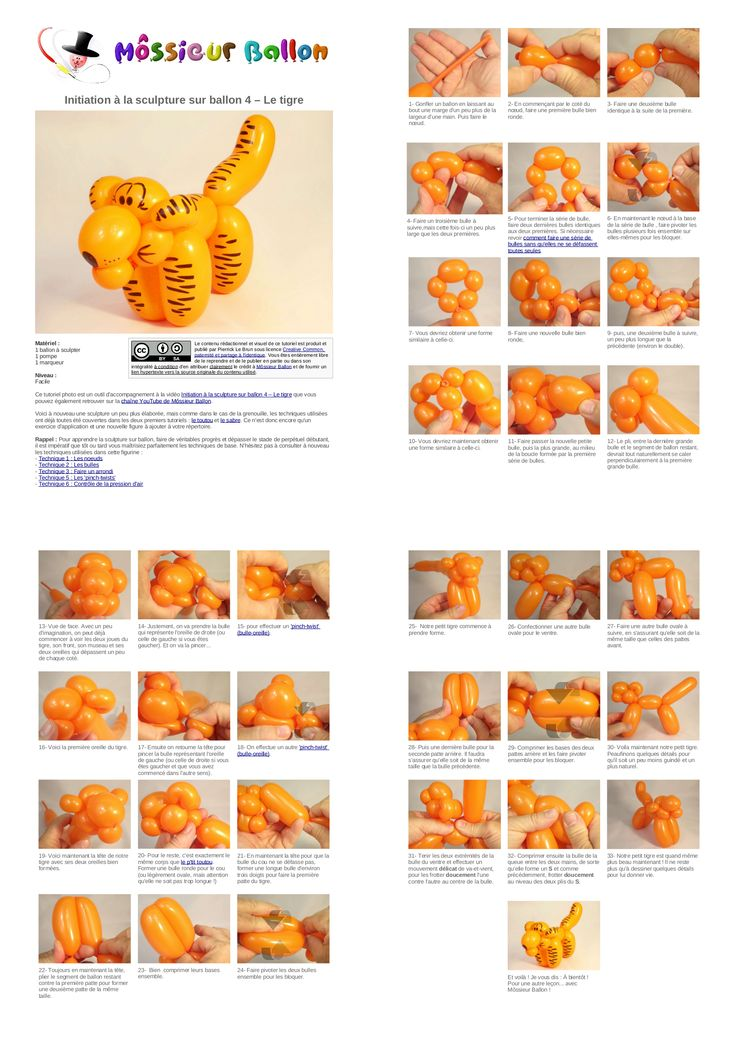 balloon modelling instructions printable