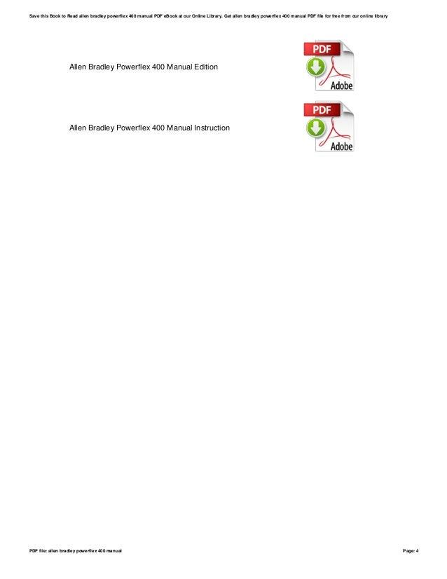 allen bradley powerflex 400 user manual pdf