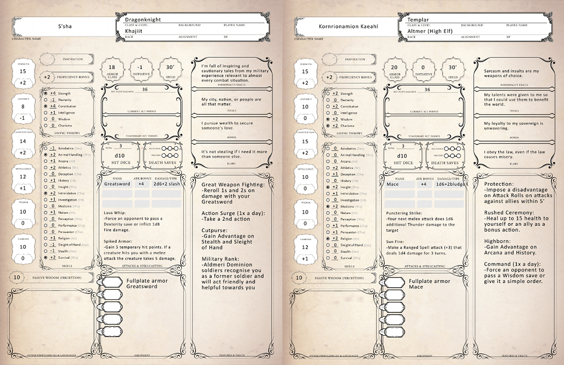 Elder scrolls dnd 5e pdf