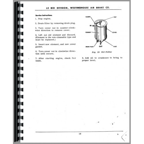 leroi air compressor service manual