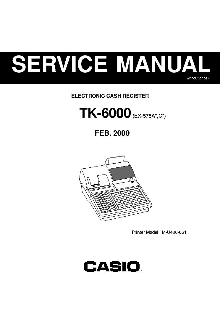 Casio tk 1300 programming manual