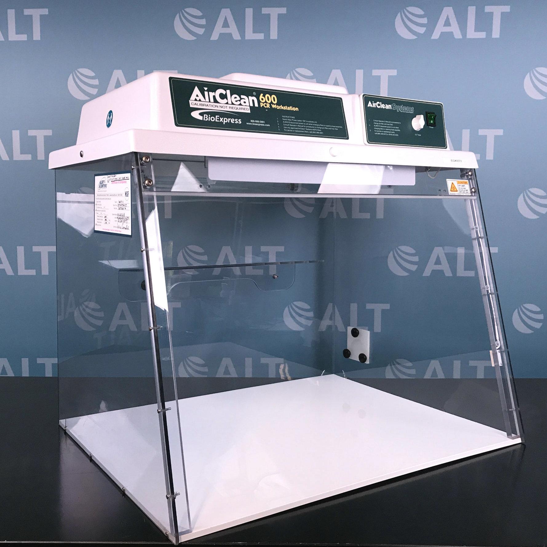 Airclean 600 pcr workstation manual