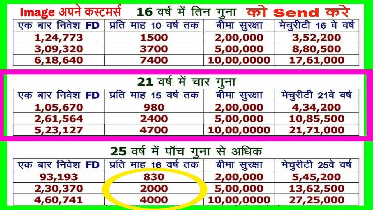 Lic insurance plans in hindi pdf