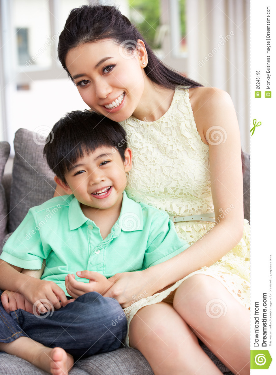 Chinese mom son