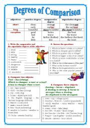 Comparison of adjectives exercises pdf