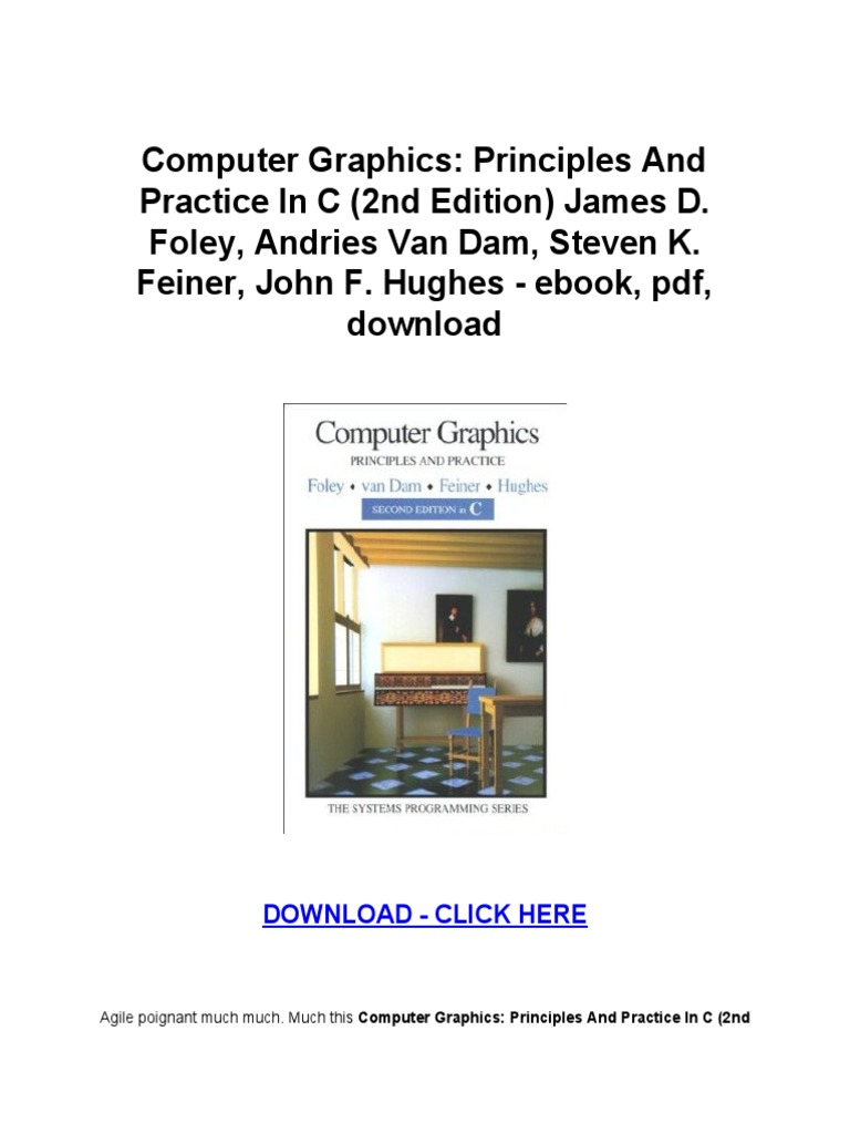 Computer graphics principles and practice by james d foley pdf