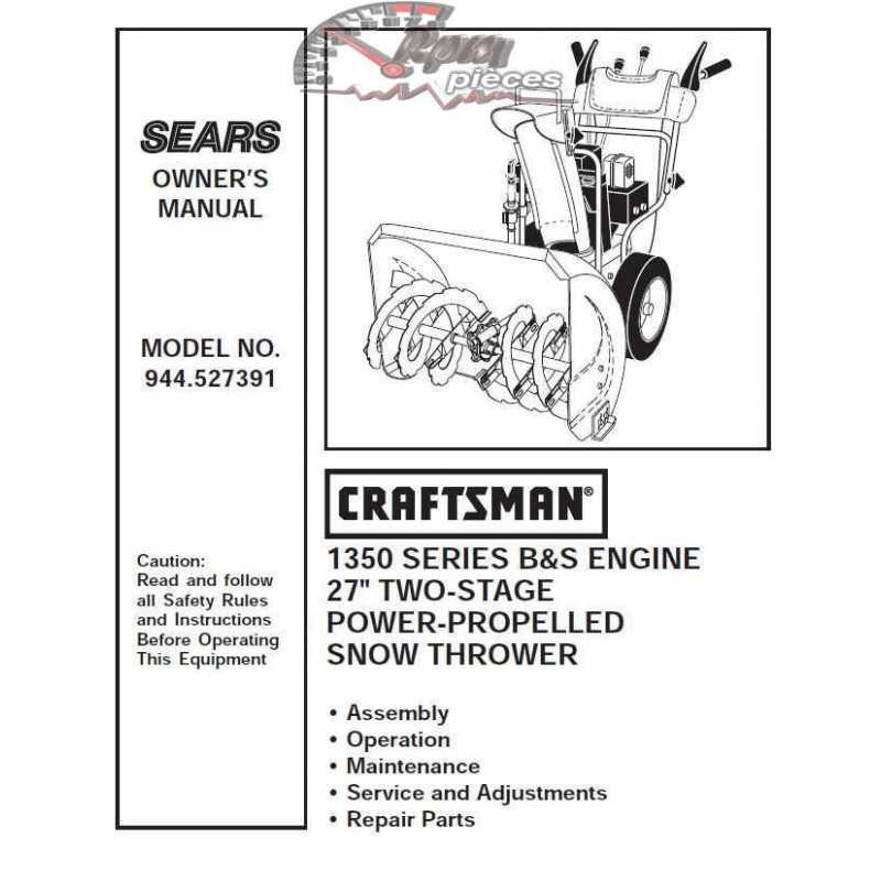 craftsman c950-52546-0 impeller snowblower manual
