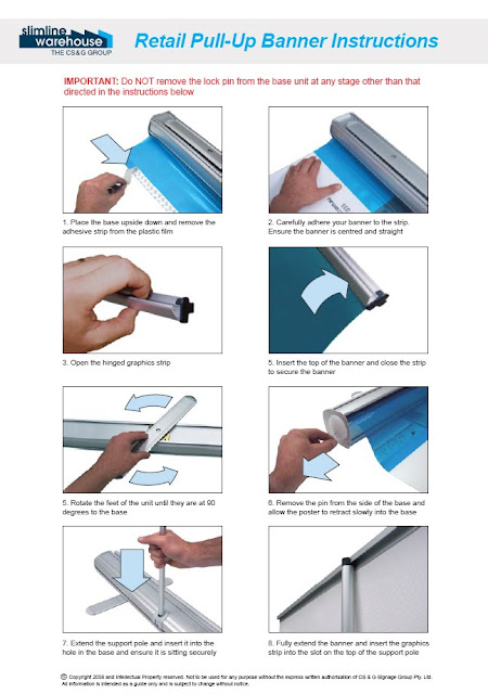 vistaprint l banner stand instructions