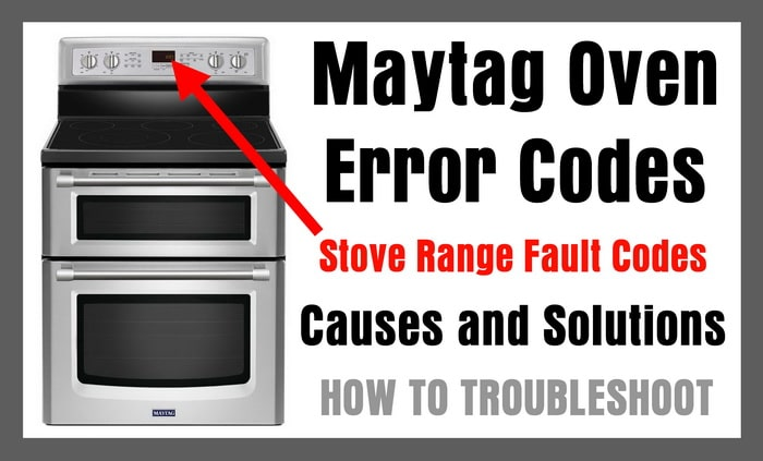 whirlpool stove manual error codes