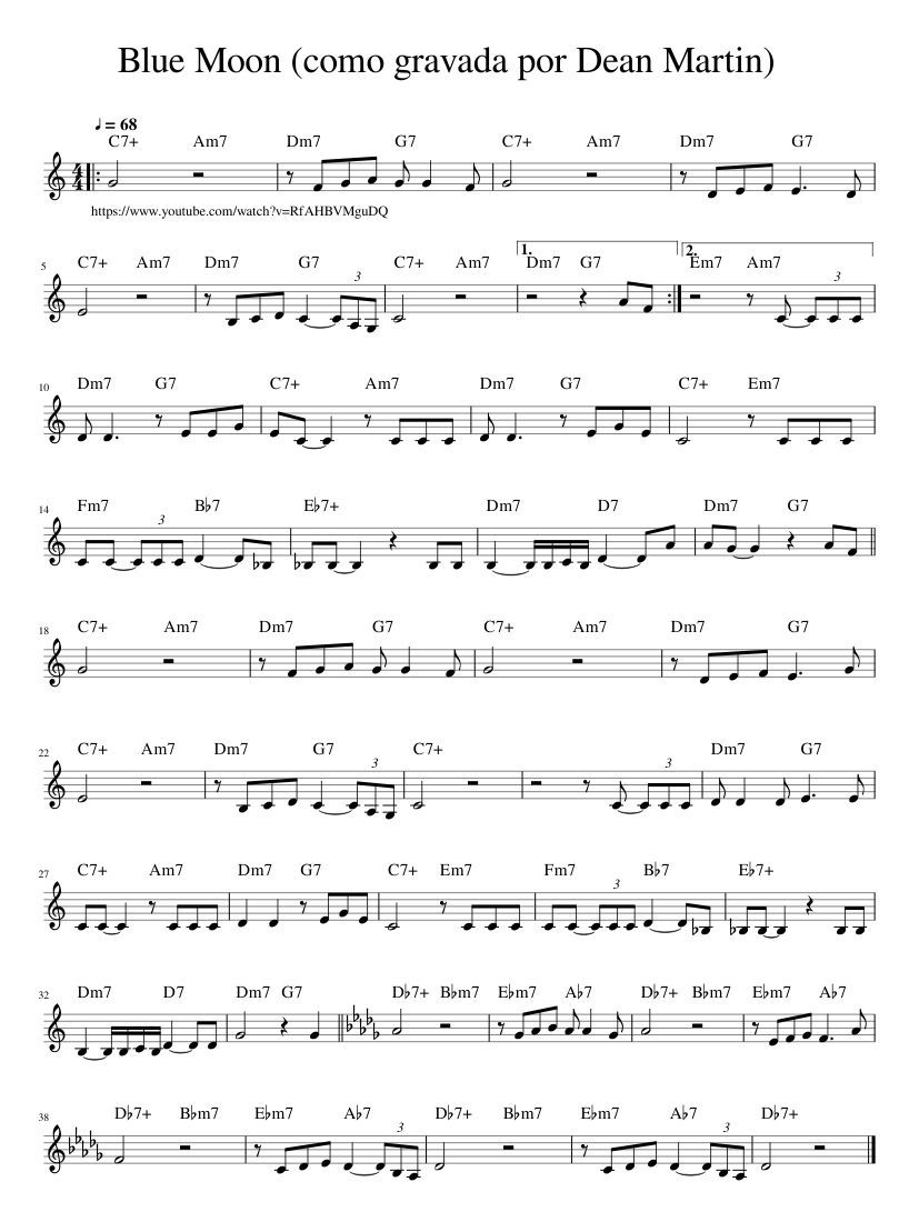 Dean half moon piano sheet music pdf