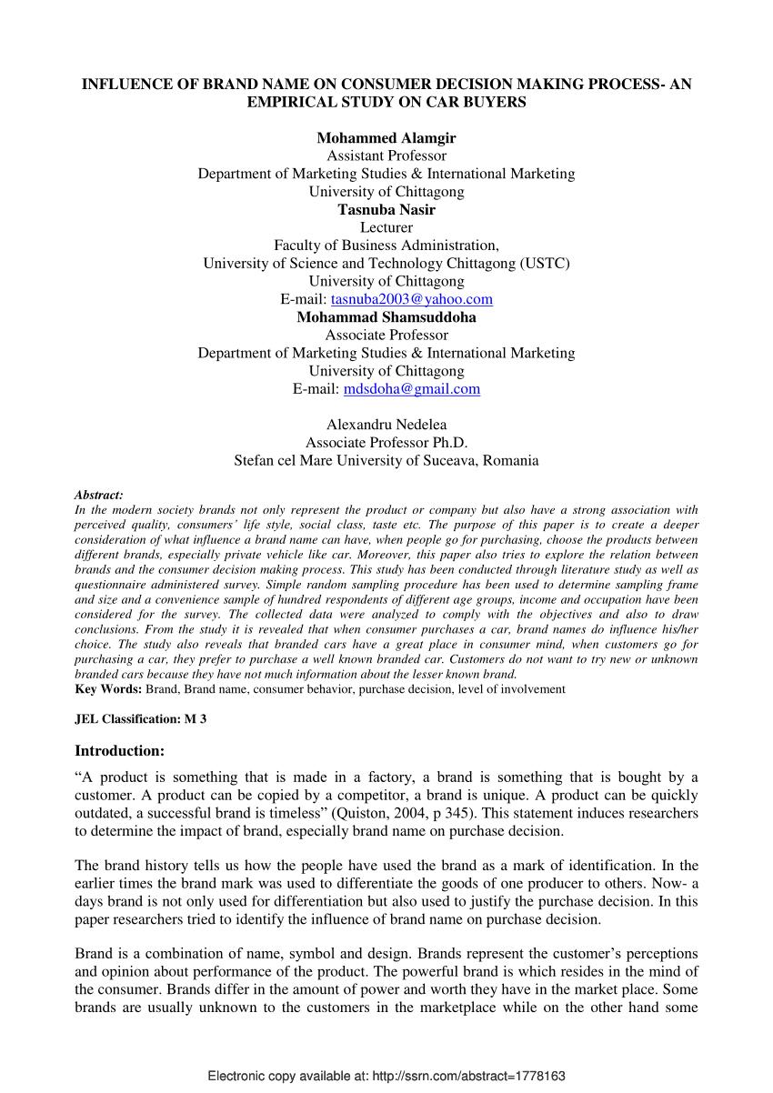 Decision making process articles pdf