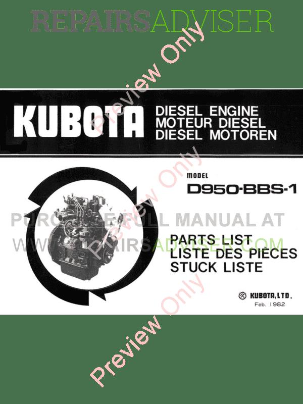 Diesel engine parts list pdf