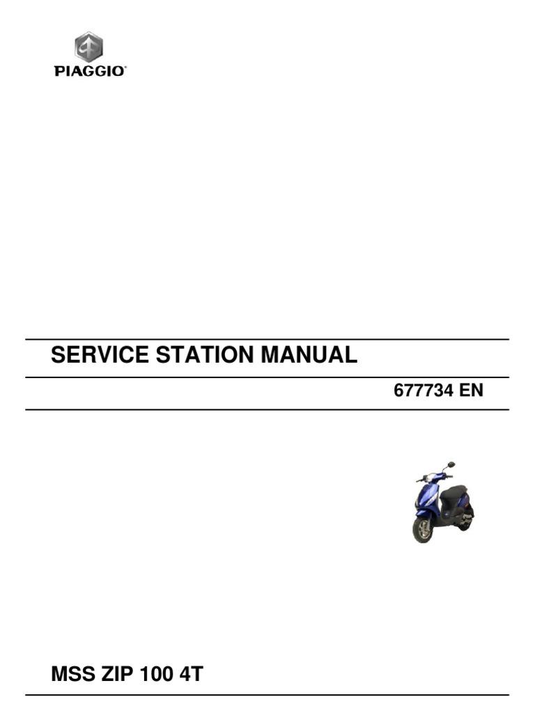 piaggio zip 100 manual pdf