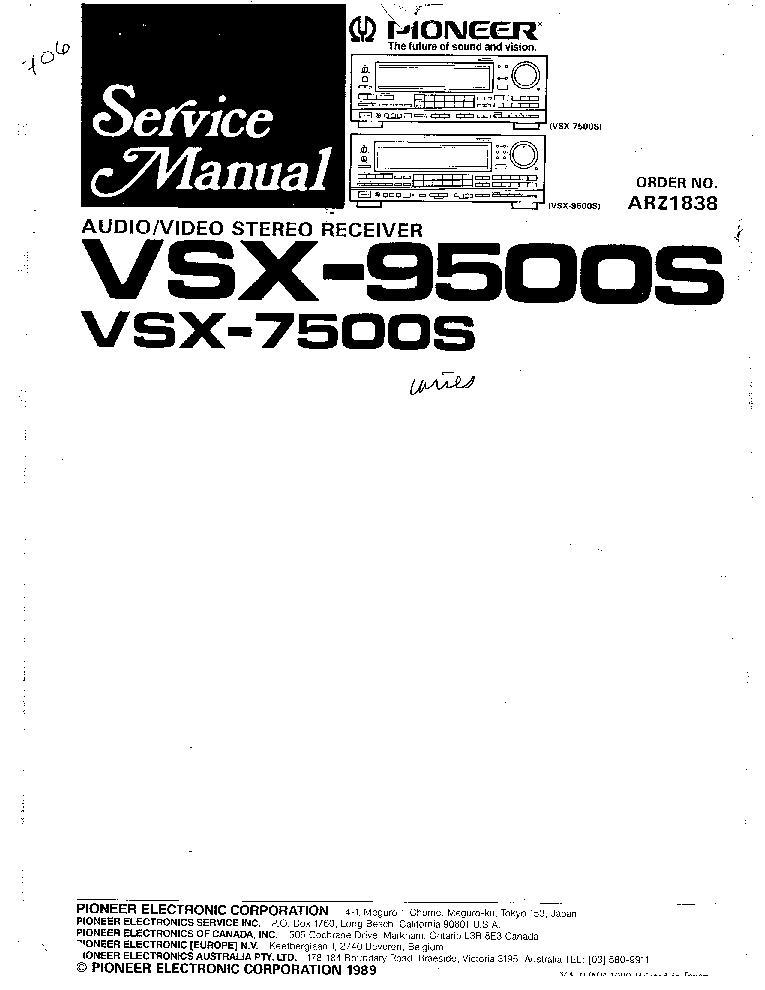 pioneer vsx 456 owners manual