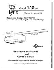 Automatic doorman lynx 455 manual
