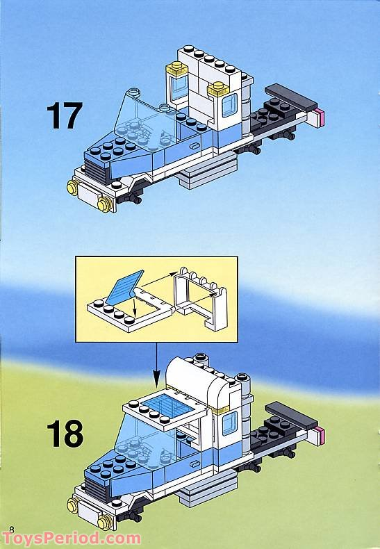 lego maersk truck instructions