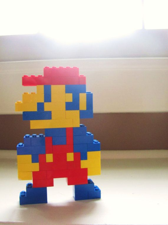 lego mario sculpture instructions