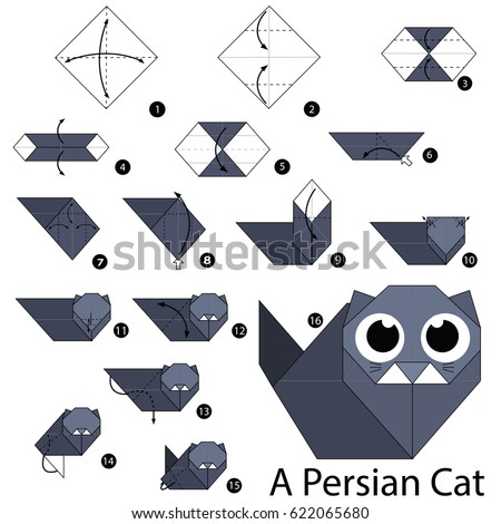 origami cat instructions step by step