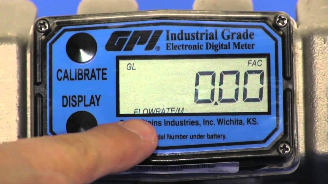 gpi electronic digital meter manual
