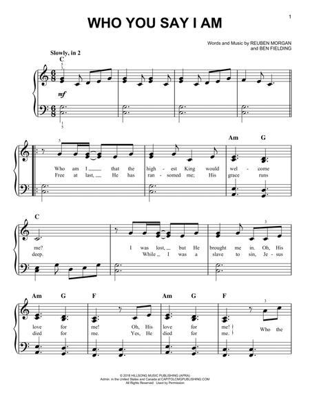 I am who you say i am chords pdf