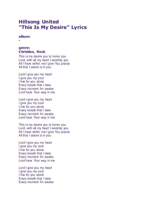 I give you my heart lyrics pdf