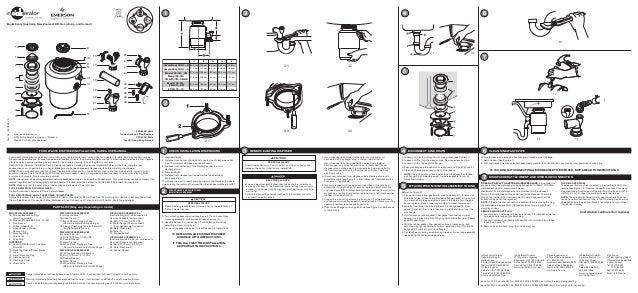 insinkerator evolution essential 2 installation instructions