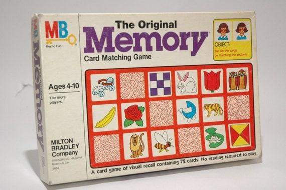 instructions for milton bradley memory game